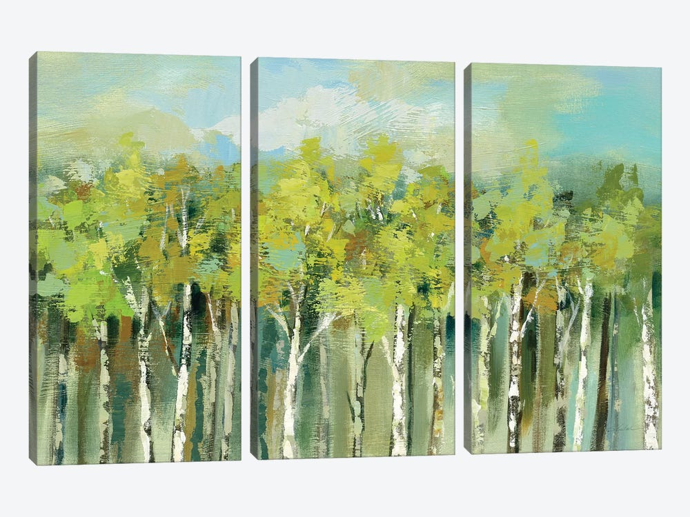April Tree Tops by Silvia Vassileva 3-piece Canvas Art