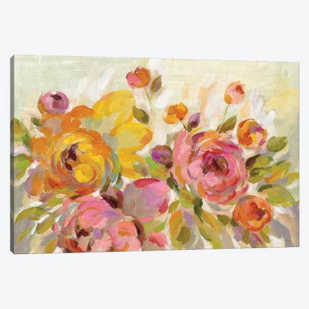Brushy Peonies 3-Piece Canvas #WAC6509} by Silvia Vassileva Canvas Print