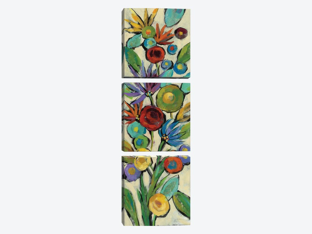 Confetti Floral II by Silvia Vassileva 3-piece Canvas Wall Art