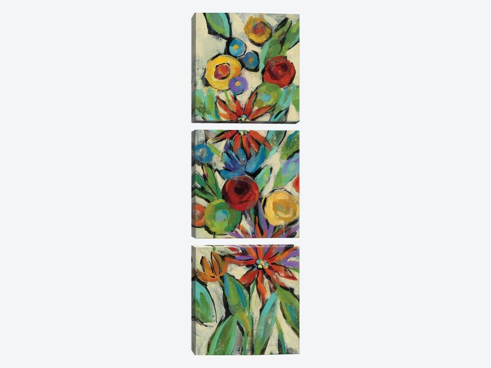 Confetti Floral III by Silvia Vassileva 3-piece Canvas Print
