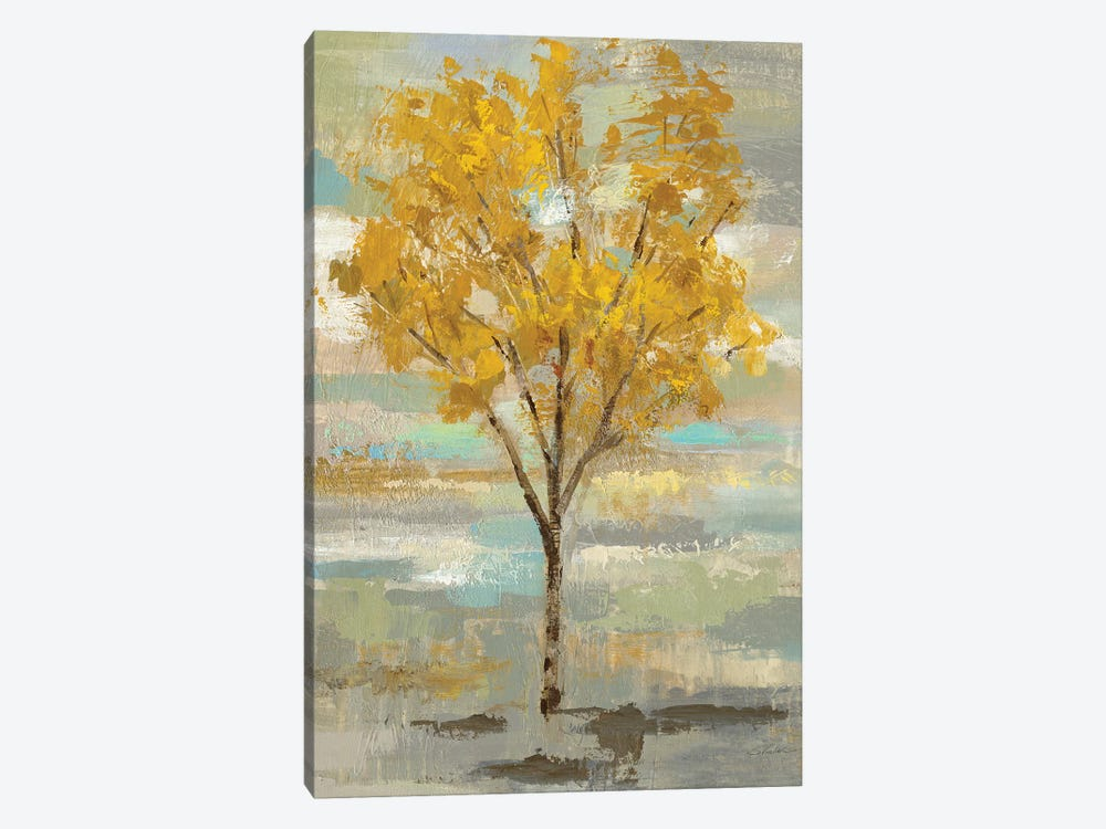 Golden Tree And Fog I by Silvia Vassileva 1-piece Canvas Artwork