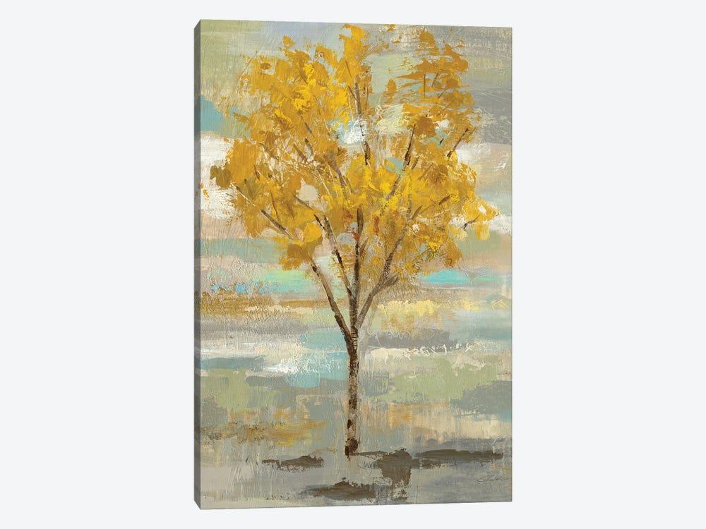 Golden Tree And Fog I by Silvia Vassileva 1-piece Canvas Artwork