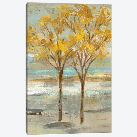 Golden Tree And Fog II Canvas Print #WAC6516} by Silvia Vassileva Canvas Art Print