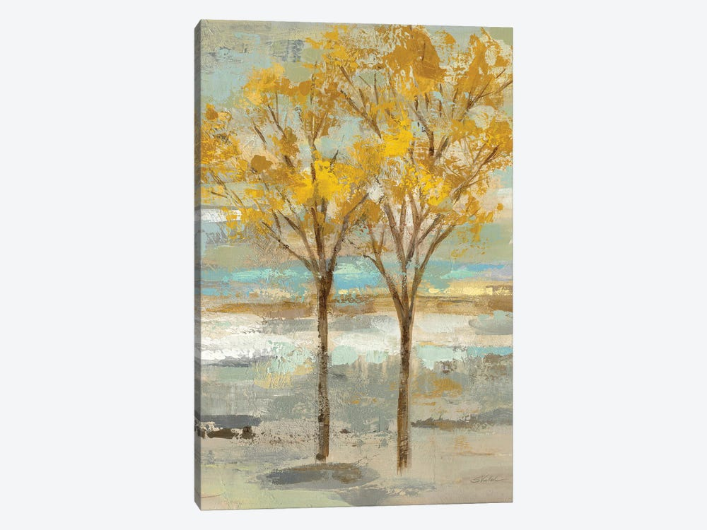Golden Tree And Fog II by Silvia Vassileva 1-piece Art Print