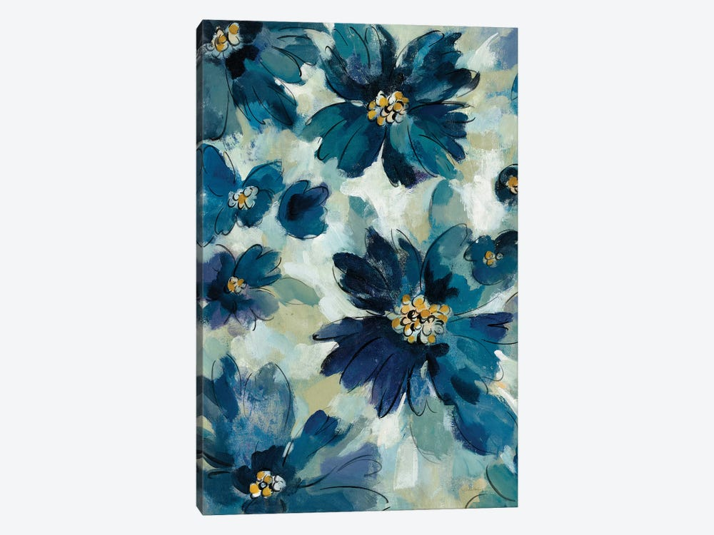 Inky Floral I 1-piece Canvas Art