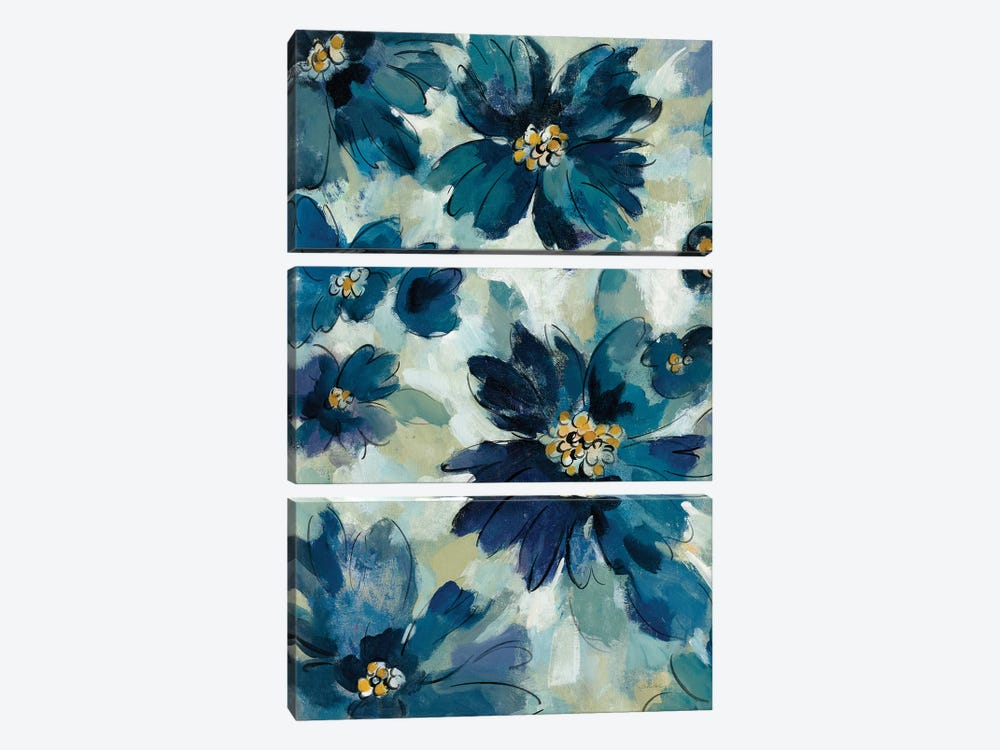 Inky Floral I by Silvia Vassileva 3-piece Canvas Wall Art