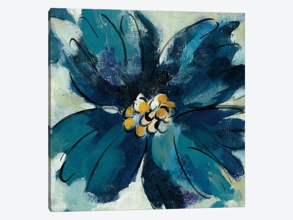 Inky Floral II by Silvia Vassileva 1-piece Canvas Print