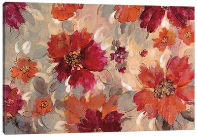 Magenta And Coral Floral Canvas Print #WAC6520