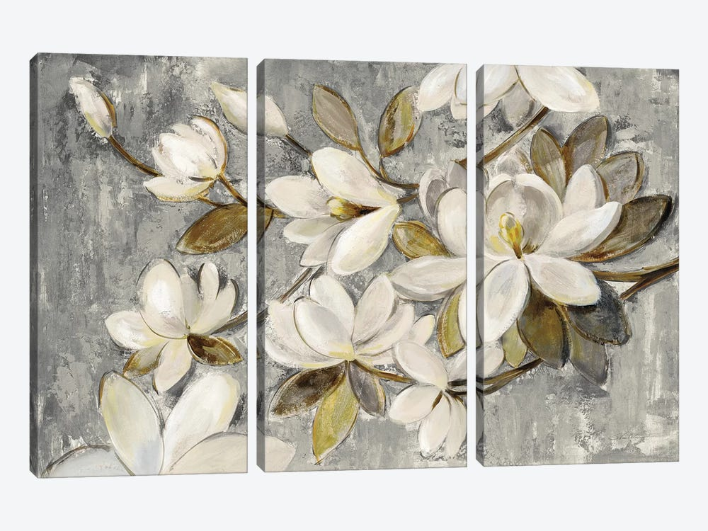 Magnolia Simplicity by Silvia Vassileva 3-piece Canvas Art Print