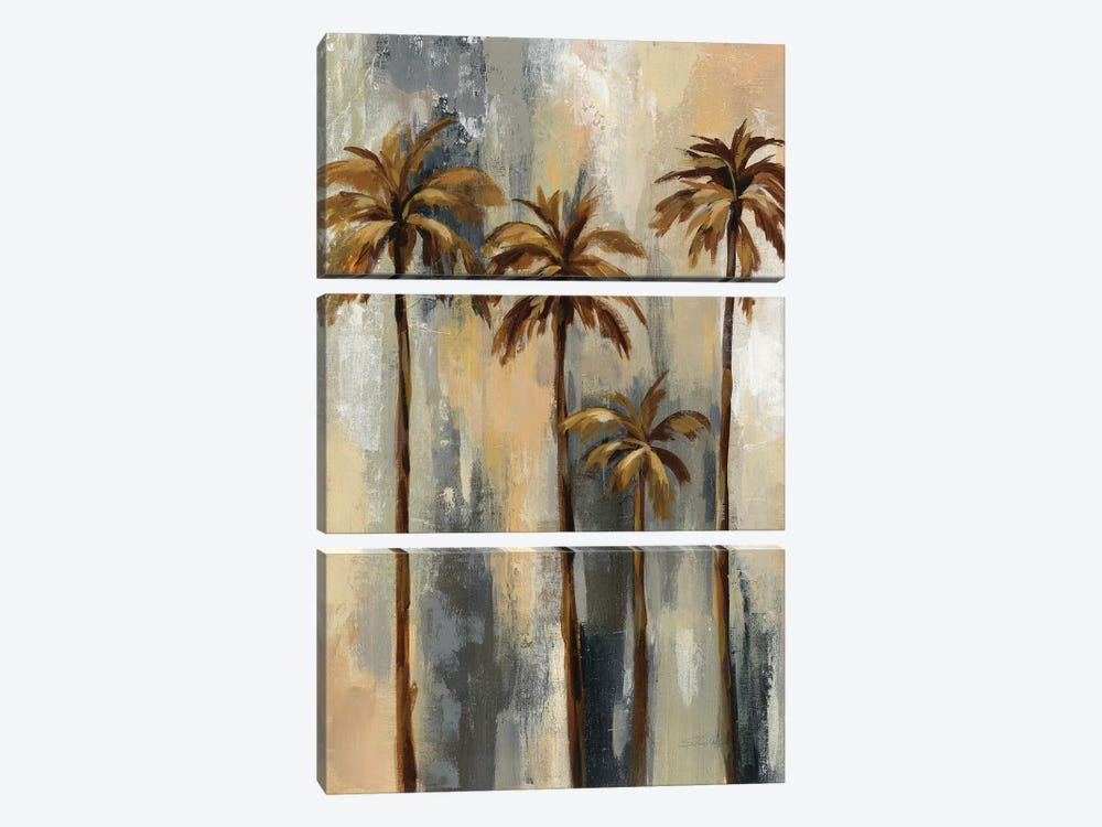 Palm Trees II 3-piece Canvas Print