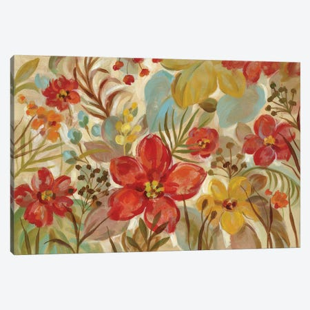 Tropical Flowers Canvas Print #WAC6531} by Silvia Vassileva Canvas Artwork