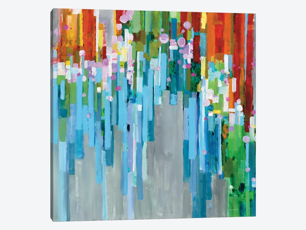 Rainbow Of Stripes by Danhui Nai 1-piece Canvas Art