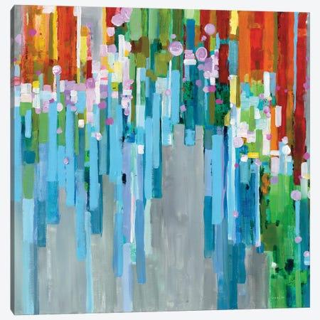 Rainbow Of Stripes Canvas Print #WAC6535} by Danhui Nai Canvas Print