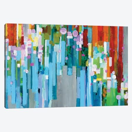 Rainbow Of Stripes In Zoom Canvas Print #WAC6536} by Danhui Nai Canvas Print