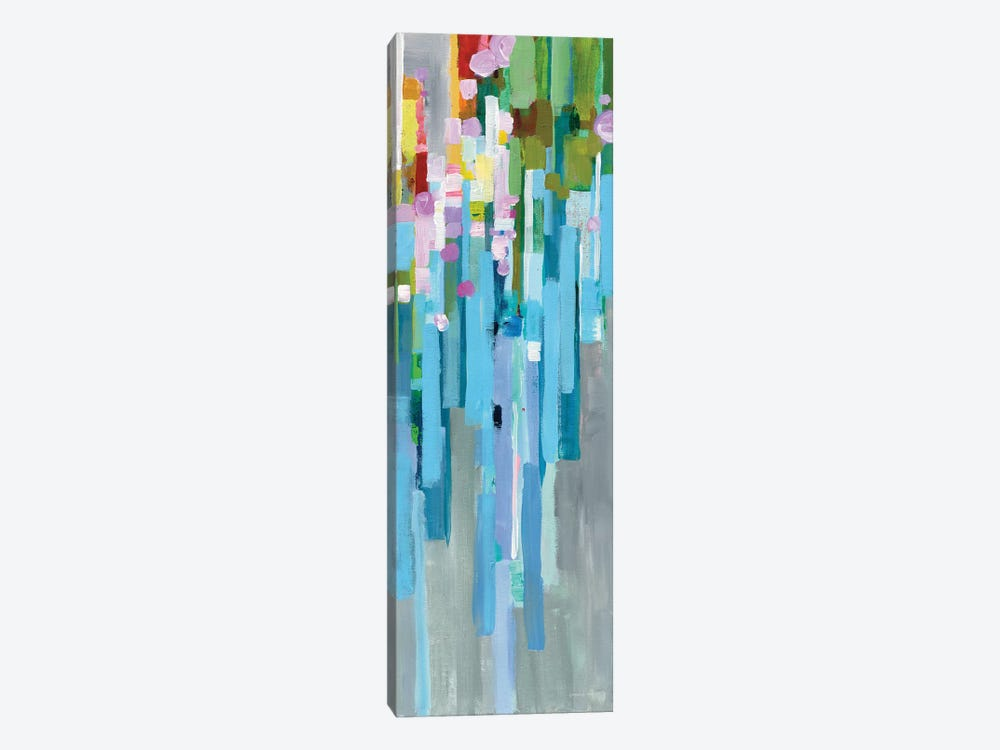 Rainbow Of Stripes Panel I by Danhui Nai 1-piece Canvas Artwork