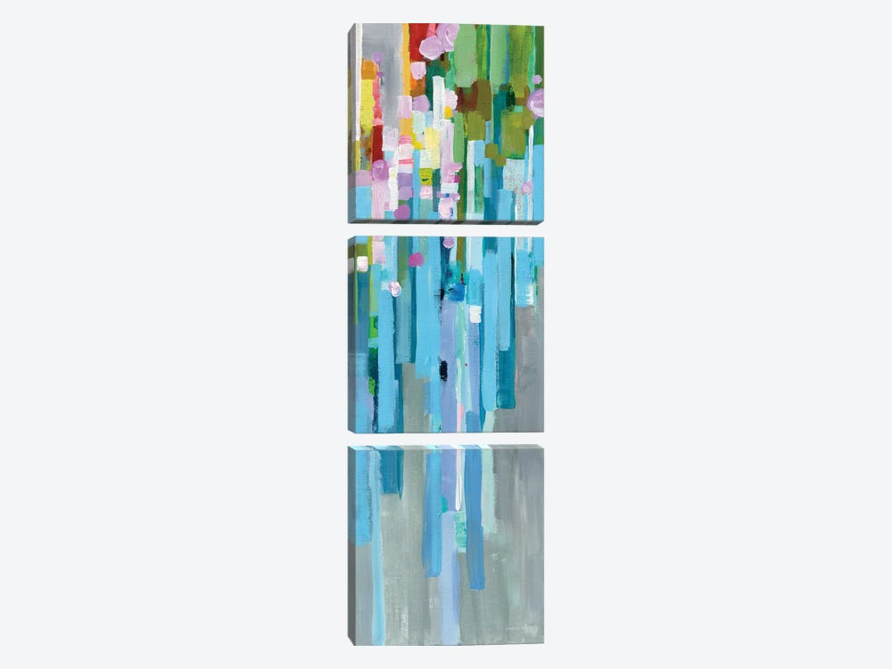 Rainbow Of Stripes Panel I by Danhui Nai 3-piece Canvas Artwork