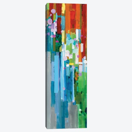 Rainbow Of Stripes Panel II Canvas Print #WAC6538} by Danhui Nai Canvas Wall Art