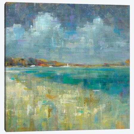 Sky And Sea Canvas Print #WAC6539} by Danhui Nai Canvas Art