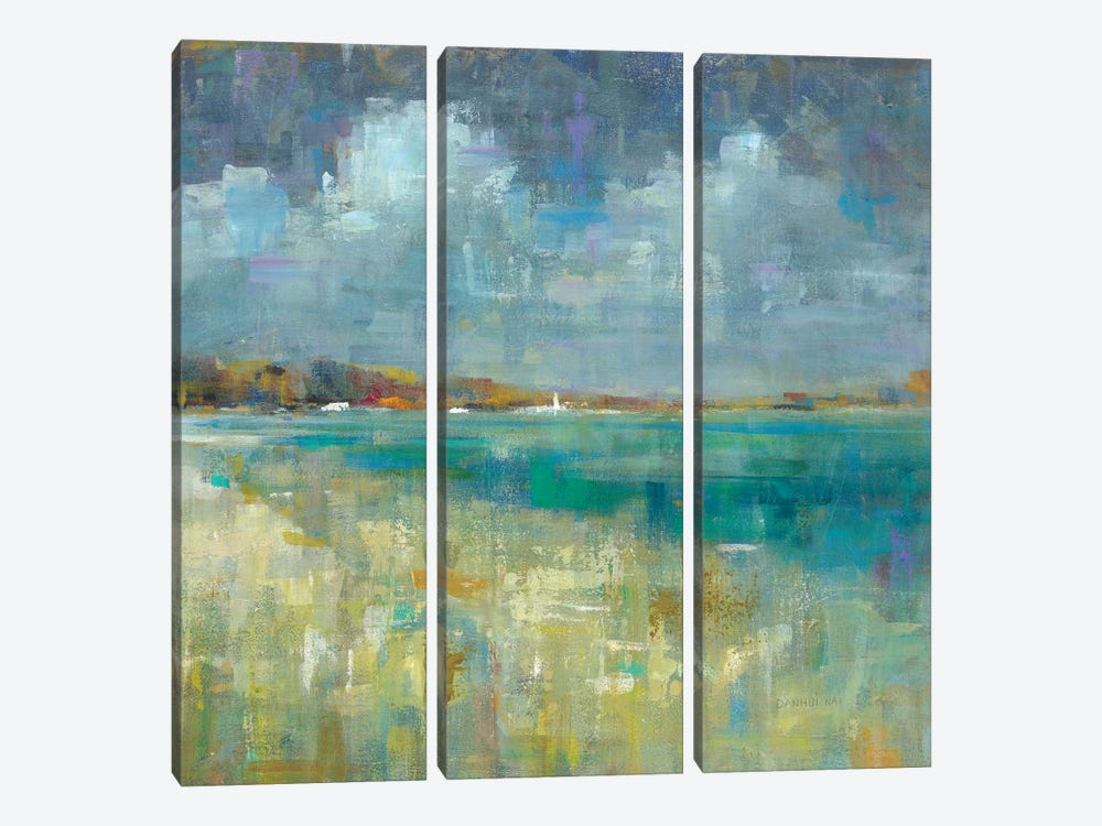 Sky And Sea by Danhui Nai 3-piece Canvas Artwork
