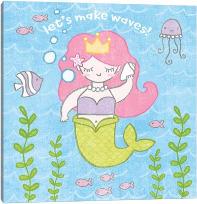Magical Mermaid I Canvas Art Print