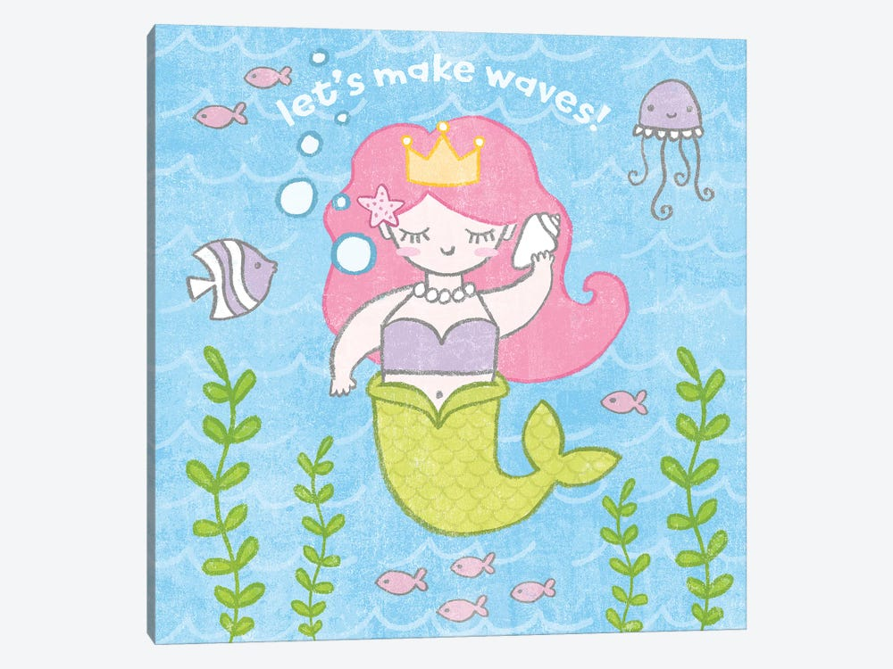 Magical Mermaid I by Moira Hershey 1-piece Canvas Print