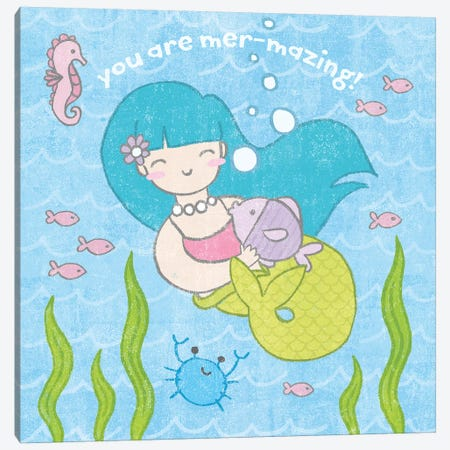 Magical Mermaid II Canvas Print #WAC6544} by Moira Hershey Canvas Wall Art