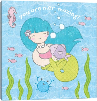 Magical Mermaid II Canvas Art Print