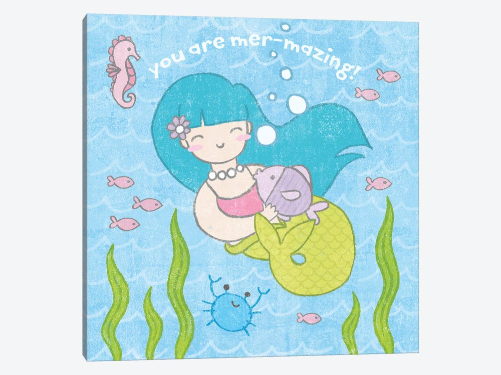 Magical Mermaid II by Moira Hershey 1-piece Canvas Wall Art