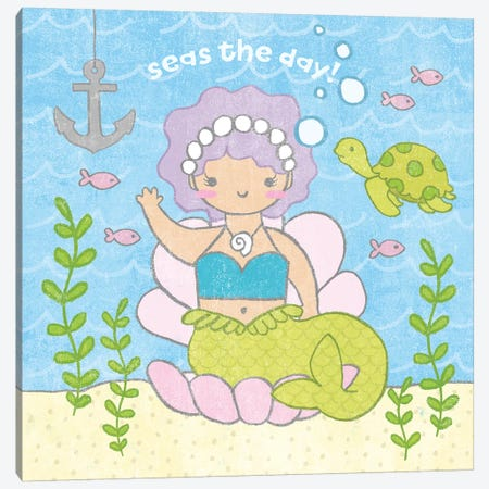 Magical Mermaid III Canvas Print #WAC6545} by Moira Hershey Canvas Artwork