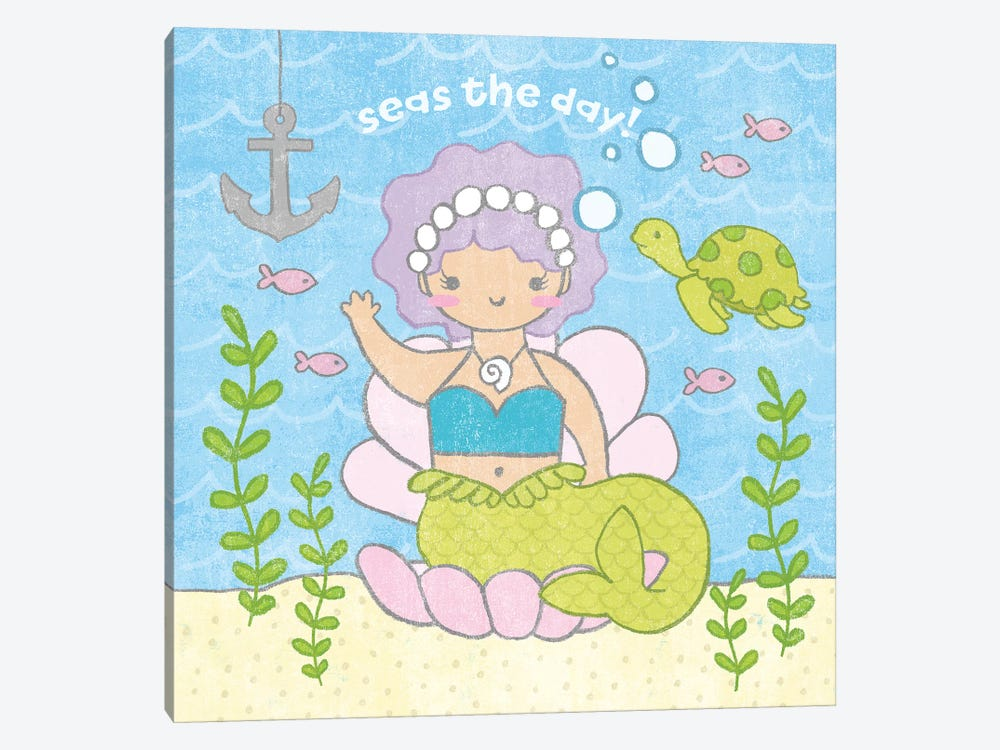 Magical Mermaid III by Moira Hershey 1-piece Canvas Print