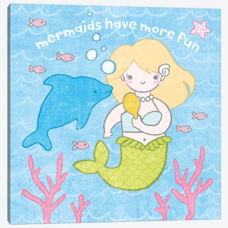 Magical Mermaid IV Canvas Print #WAC6546} by Moira Hershey Canvas Wall Art