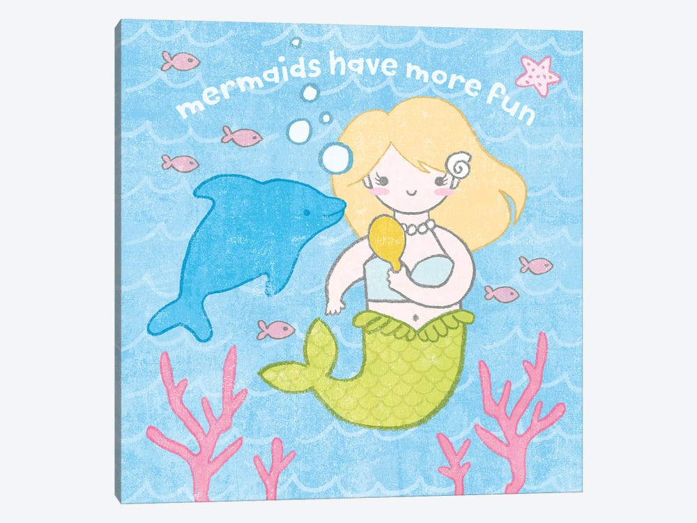 Magical Mermaid IV by Moira Hershey 1-piece Canvas Artwork