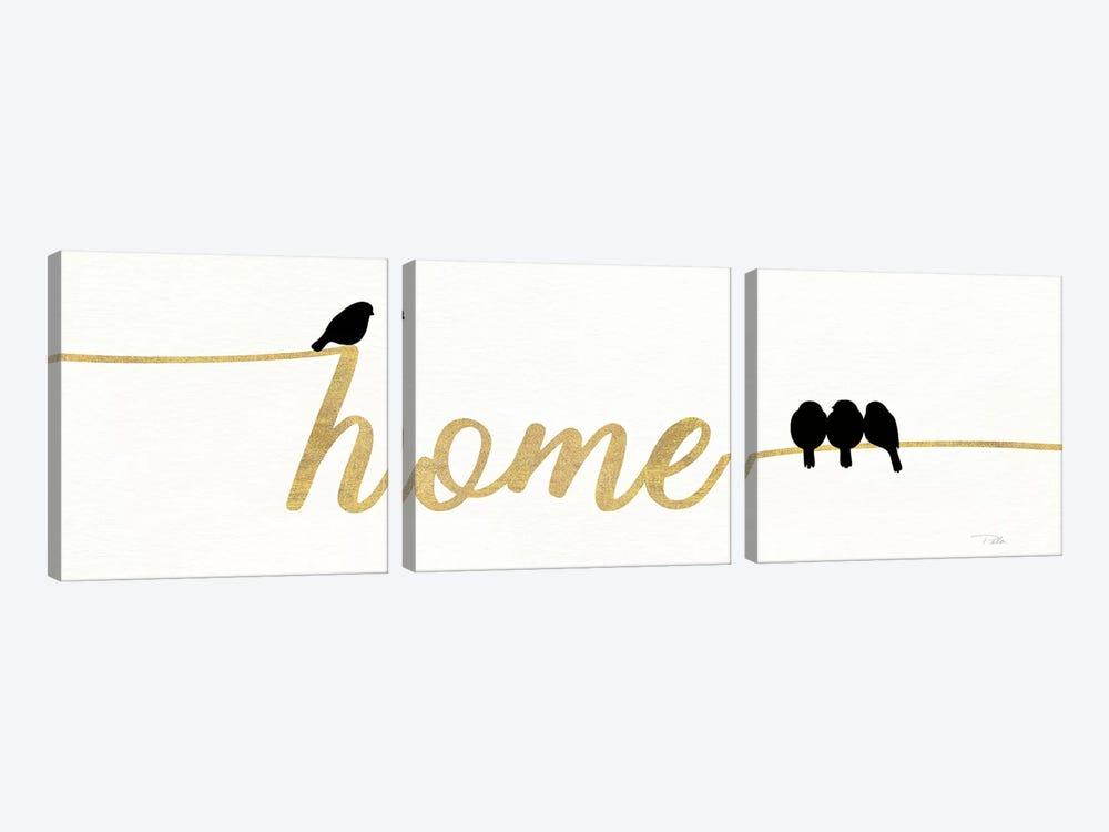 Birds On Words II by Pela 3-piece Canvas Artwork