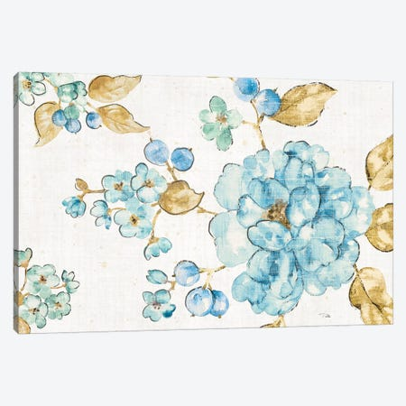 Blue Blossom I Canvas Print #WAC6565} by Pela Canvas Art