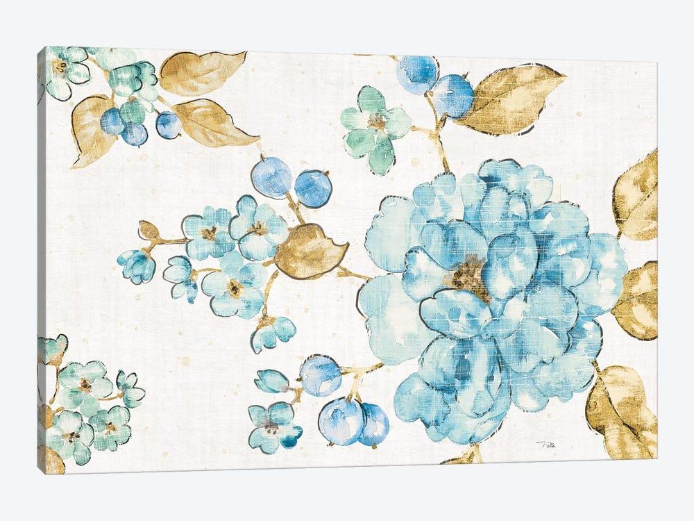 Blue Blossom I by Pela 1-piece Canvas Art Print