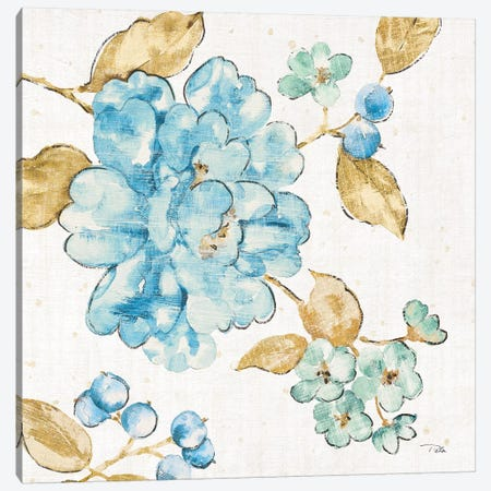 Blue Blossom II Canvas Print #WAC6566} by Pela Canvas Art