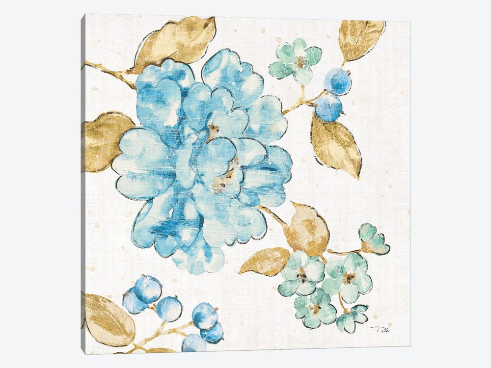 Blue Blossom II 1-piece Canvas Art