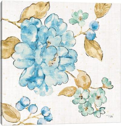 Blue Blossom II Canvas Art Print