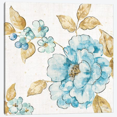 Blue Blossom III Canvas Print #WAC6567} by Pela Canvas Wall Art