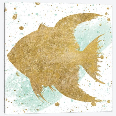 Sea Life Splash II Canvas Print #WAC6579} by Wild Apple Portfolio Canvas Wall Art