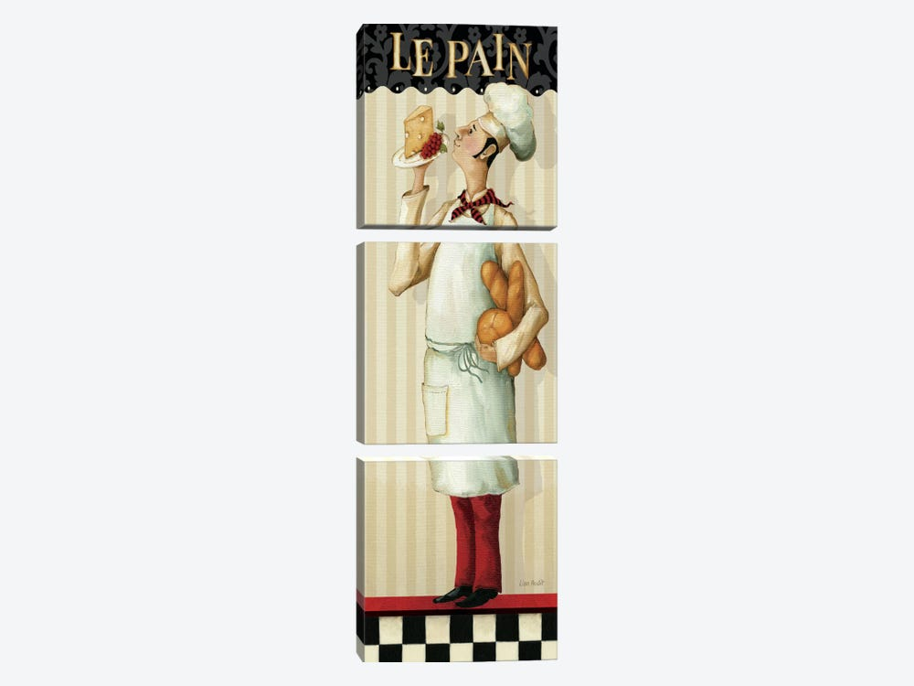 Chef's Masterpiece III (Le Pain) by Lisa Audit 3-piece Canvas Art Print