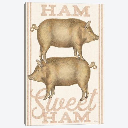 Ham Sweet Ham Canvas Print #WAC6592} by Sue Schlabach Canvas Artwork