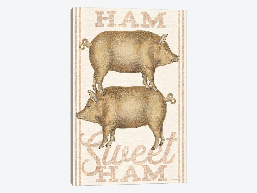 Ham Sweet Ham by Sue Schlabach 1-piece Canvas Print