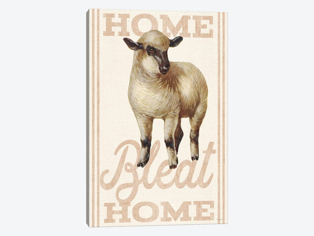Home Bleat Home by Sue Schlabach 1-piece Canvas Wall Art