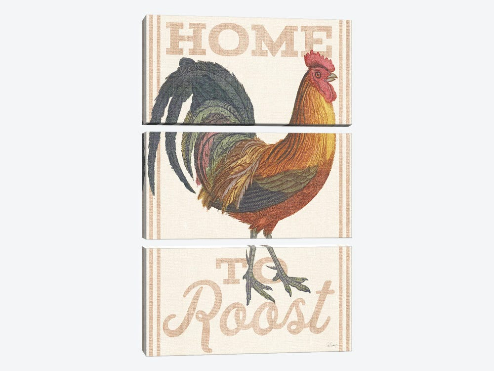 Home To Roost II by Sue Schlabach 3-piece Canvas Print