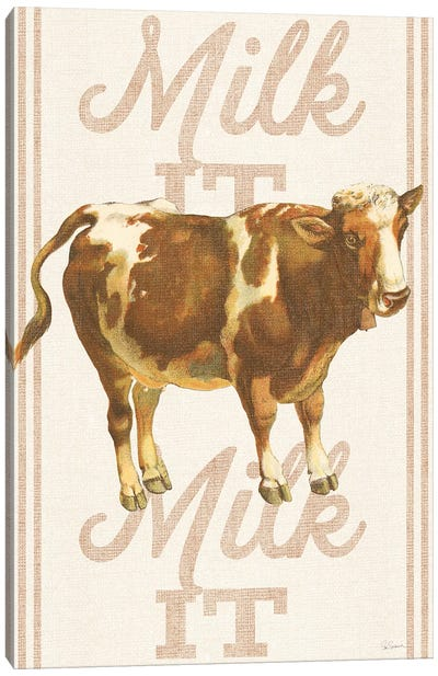 Milk It, Milk It Canvas Art Print