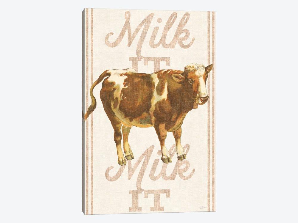 Milk It, Milk It by Sue Schlabach 1-piece Canvas Art Print