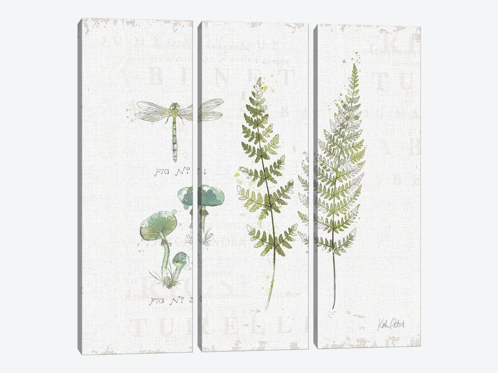 In The Forest VI by Katie Pertiet 3-piece Canvas Art Print