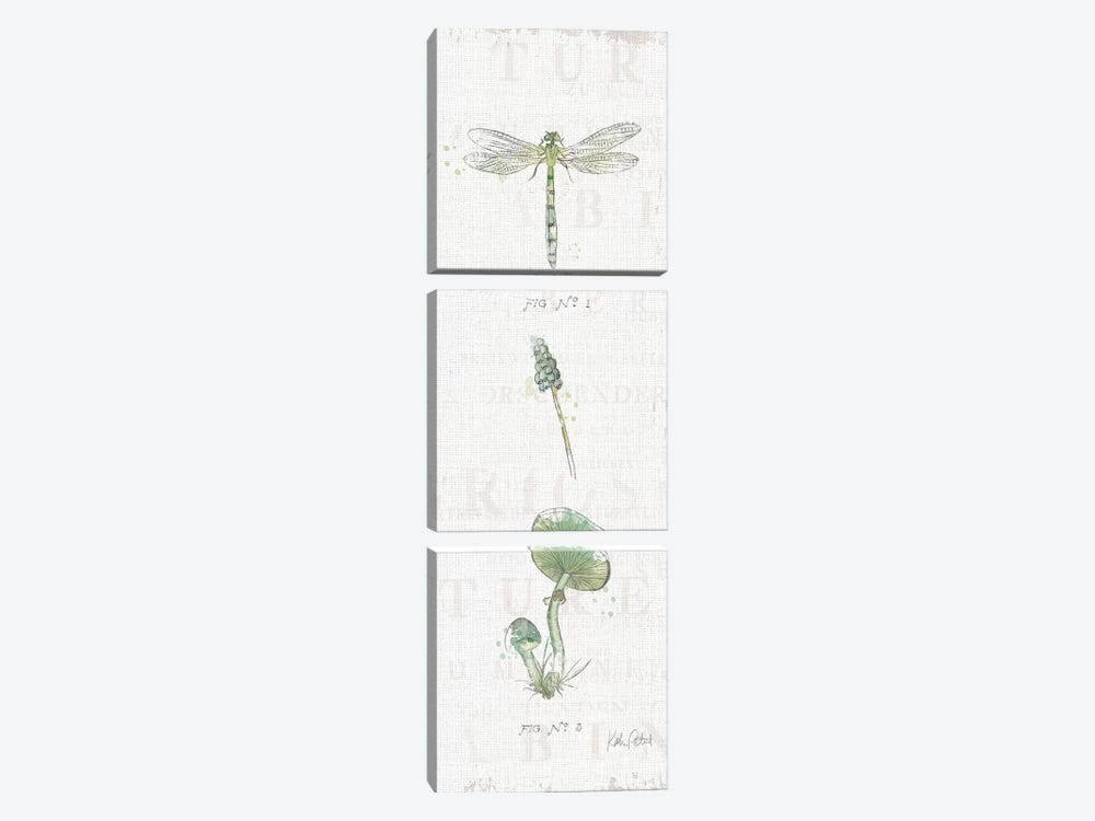 In The Forest X by Katie Pertiet 3-piece Canvas Wall Art