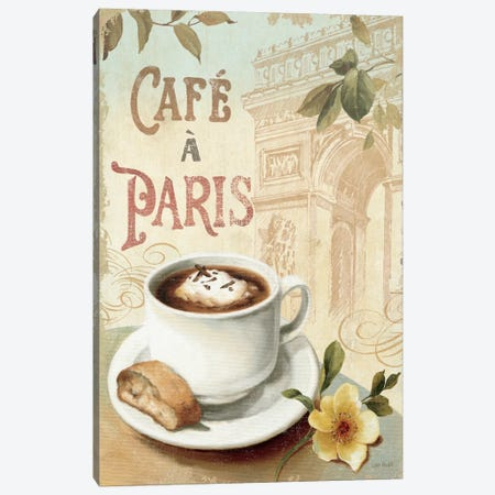 Cafe in Europe I Canvas Print #WAC662} by Lisa Audit Canvas Art